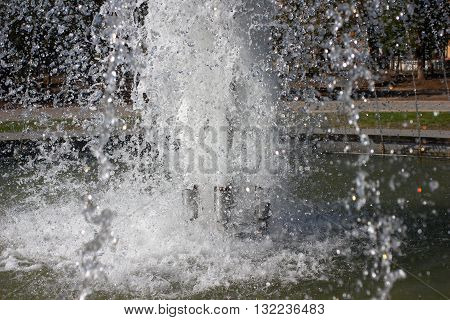 the feed water nozzle of the fountain