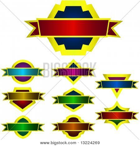 Vector design frames. Vector set.