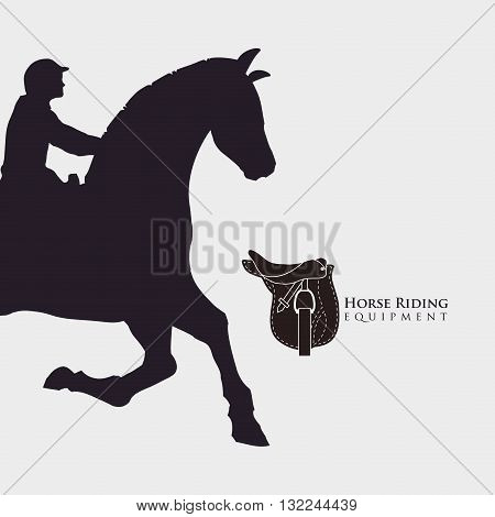 Horse ridding concept with icon design, vector illustration 10 eps graphic.