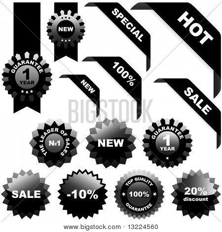 Set of black elements for sale.
