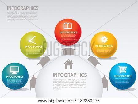 Vector Illustration:   info-graphic - sphere style - spread