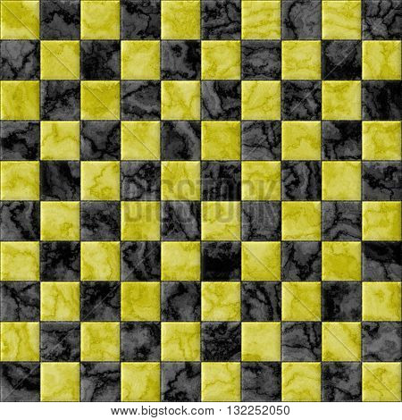Checkerboard decorative texture - gold and black pattern