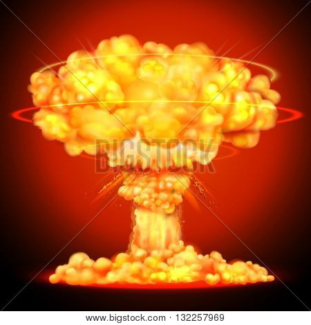illustration of Nuclear bomb explosion