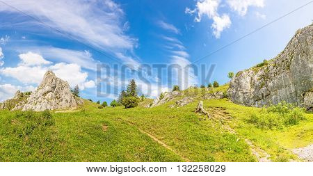 Mountains Of The Valley Eselsburger Tal, Swabian Alps