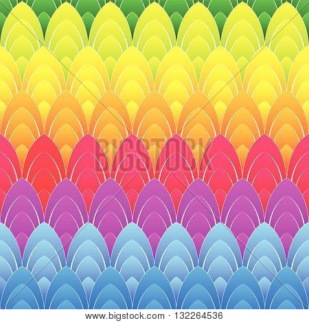 abstract background with concentric rainbow colourful ellipses, vector