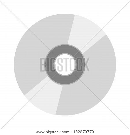 CD vector illustration. CD isolated on white background. CD vector icon illustration. CD isolated vector. CD silhouette