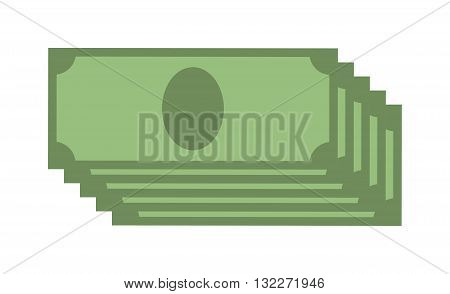 Creative business finance making money concept and dollar stack of bundles. Dollar stack US dollars business, banking edition banknotes bills isolated on white and dollar stack wealth finance sign.
