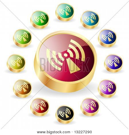 Ð¡ommunication buttons . Vector set.