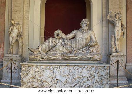 Ancient group sculpture