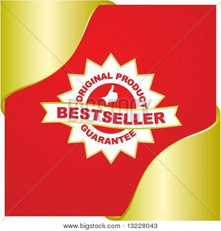 Bestseller emblem. Vector emblem for sale.