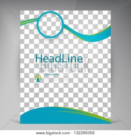 Vector Beautiful Green Flyer. Template flyers design. Business brochure circles