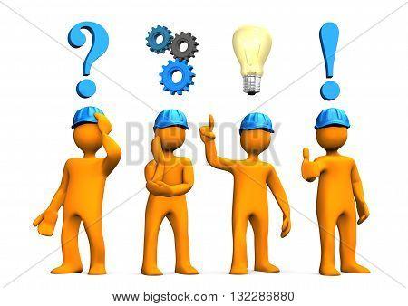Engineers Planning Concept