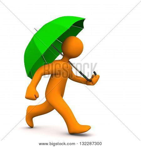Manikin Green Umbrella