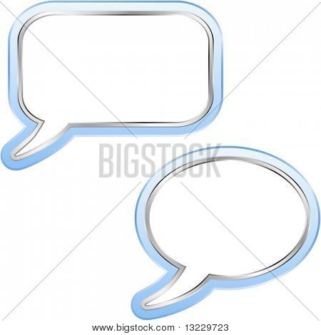 Speech bubble buttons. Vector set.