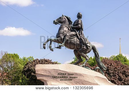 Bronze Horseman - Monument to Peter the Great in Saint Petersburg. It was created by the French sculptor Falconet (1768
