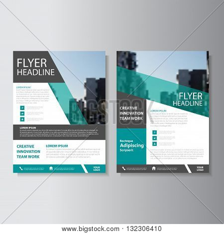 Green Black Vector annual report Leaflet Brochure Flyer template design book cover layout design abstract business presentation template a4 size design