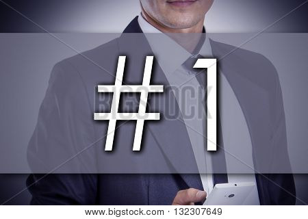 #1 - Young Businessman With Text - Business Concept