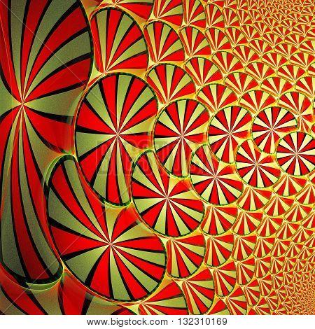 Symmetrical fractal flower digital artwork for creative graphic