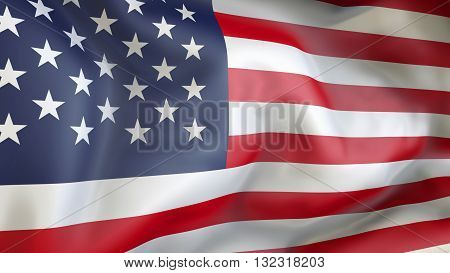United State of America flag waving in the wind