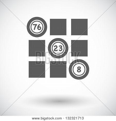 Keno. Single flat icon on white background. Vector illustration.