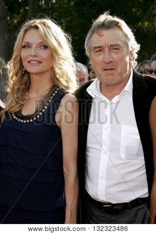 Michelle Pfeiffer and Robert De Niro at the Los Angeles premiere of 'Stardust' held at the Paramount Pictures Studios in Hollywood, USA on July 29, 2007.