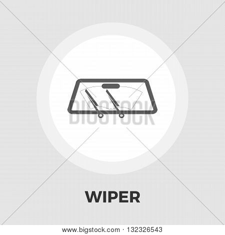 Wiper car icon vector. Flat icon isolated on the white background. Editable EPS file. Vector illustration.
