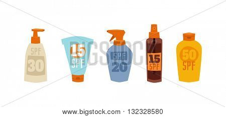 Sunscreen cream vector illustration.