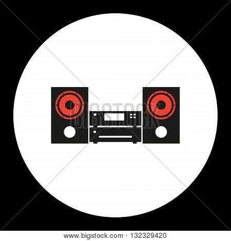 Music Aparture Simple Isolated Black And Red Icon Eps10