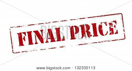 Rubber stamp with text final price inside vector illustration