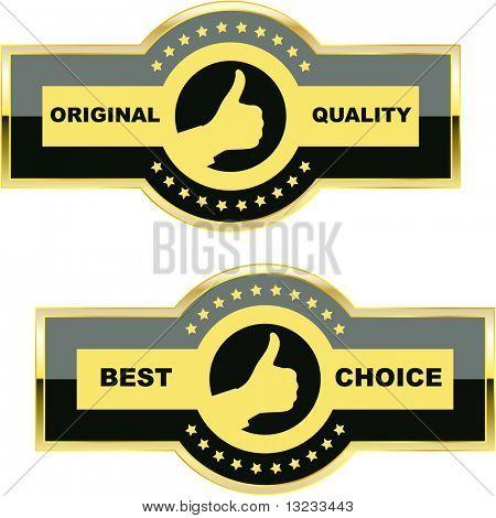 Set of quality guaranteed label