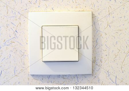 White Light Switch On Wall