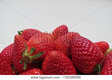 Strawberry (Fragaria x ananassa) fruit vegetarian food