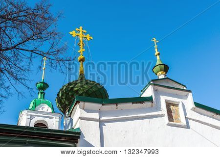 Church of the Ascension was built in the 18th century in Yaroslavl, Russia