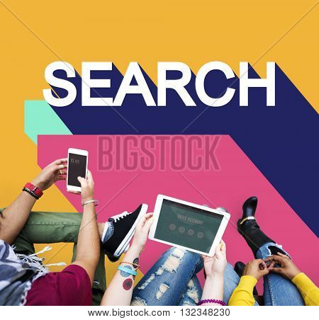 Search Engine Optimisation Finding SEO Seeking Concept