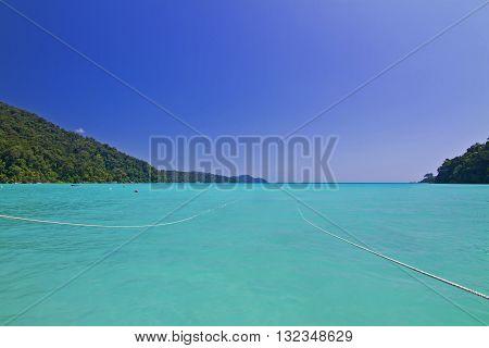 beach and tropical sea Surin island Thailand