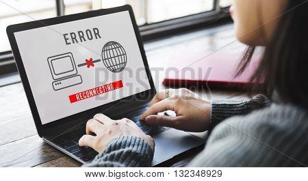 Error 404 Alert Crash Wrong Failure Problem Concept