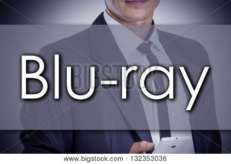 Blu-ray - Young Businessman With Text - Business Concept