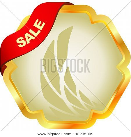 Sale emblem. Vector illustration.
