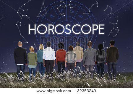Horoscope Astral Calendar Future Prediction Signs Concept