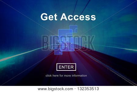 Get Access Attainable Availability Online Technology Concept