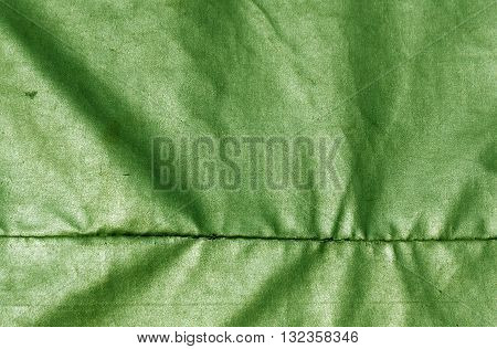 Abstract Green Waterproof Textile Texture.