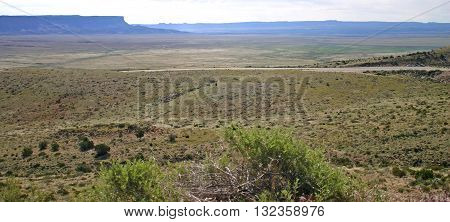 the wide expanse of the desert in northern Arizona