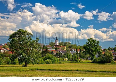 Town of Vrbovec landscape and architecture Prigorje region of Croatia