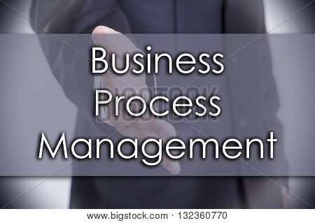 Business Process Management Bpm - Business Concept With Text