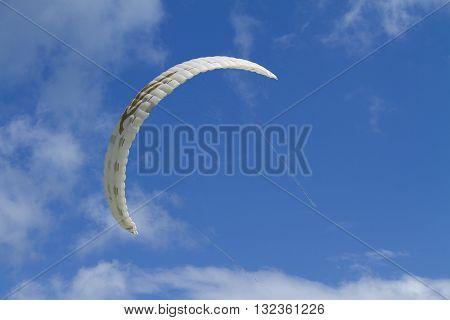 Parachute in the sky the beautiful,Samui Island Thailand.