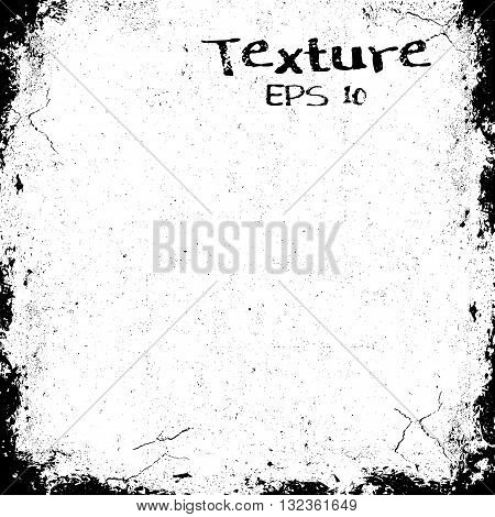 Grunge texture. Frame. Vector. Stock vector design template - easy to use