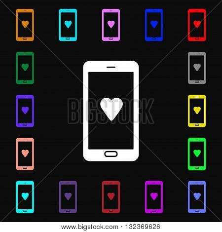 Love Letter, Valentine Day, Billet-doux, Romantic Pen Pals Icon Sign. Lots Of Colorful Symbols For Y
