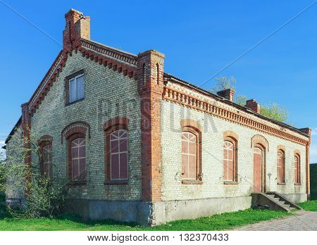Old Building Made Of Brick In Ventspils In Latvia