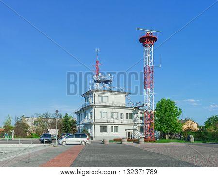 Harbor Master Office Building At Port In Ventspils