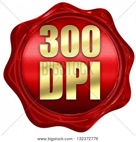 300 dpi, 3D rendering, a red wax seal